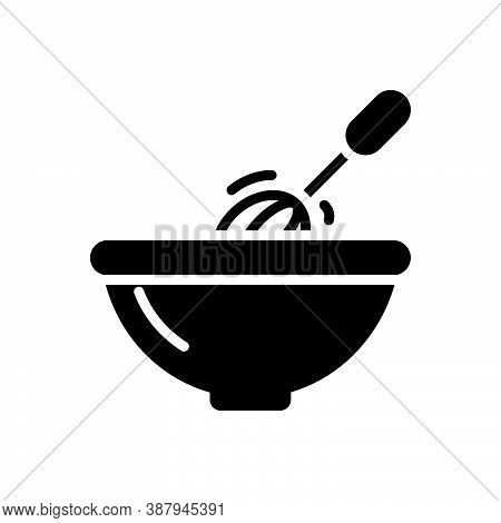 Black Solid Icon For Stir Mix Blend Bustling Bustle Homemade Household Kitchenware Churn Move