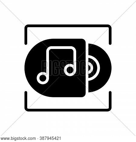 Black Solid Icon For Album Record Music Acoustic Disc Classical Musical Note Symphony Song