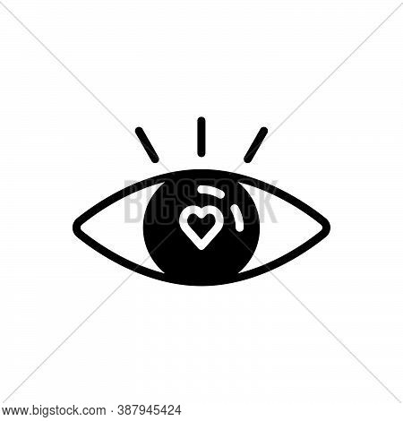 Black Solid Icon For Attractive Tempting Seductive Enticing Eye See Ravishing Fabulous Beautiful Cha