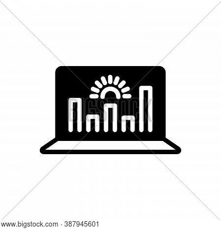 Black Solid Icon For Representation Analytics Data Graphs Monitoring Performance Presentation Demons