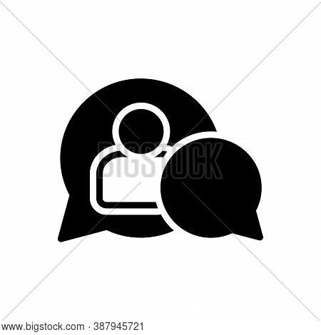 Black Solid Icon For Moderate Cautious Abate Assistant Admin Customer Dispatch Frame Communication C