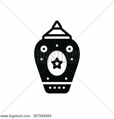 Black Solid Icon For Modern New Recent Vernal Latest Current Modernized Stylish Jar Pot