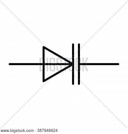 Varicap Symbol, Electronic Components, Radio Components Black