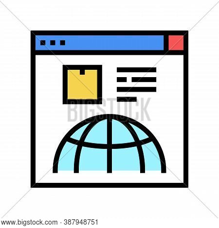 Delivery Service Web Site Color Icon Vector. Delivery Service Web Site Sign. Isolated Symbol Illustr