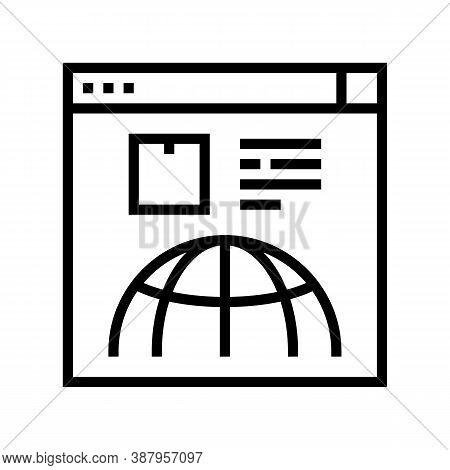 Delivery Service Web Site Line Icon Vector. Delivery Service Web Site Sign. Isolated Contour Symbol