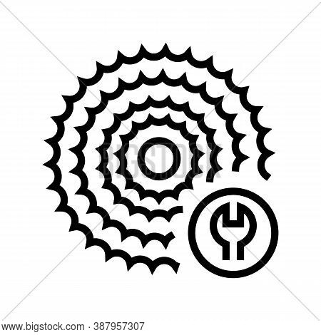 Cassette Cogset Replacement Line Icon Vector. Cassette Cogset Replacement Sign. Isolated Contour Sym