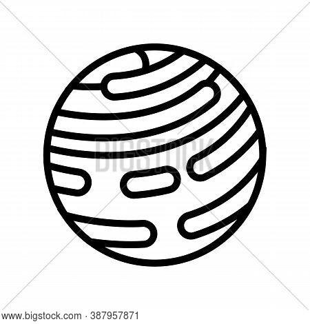 Jupiter Planet Line Icon Vector. Jupiter Planet Sign. Isolated Contour Symbol Black Illustration