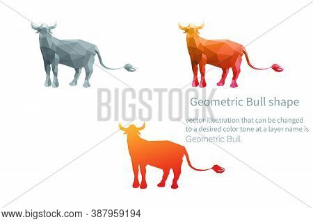 Bull Shape Vector Image That Can Be Changed To A Desired Color Tone At A Layer Name Is Geometric Bul