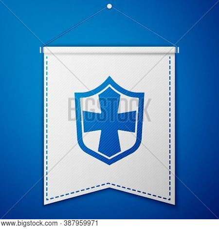 Blue Shield Icon Isolated On Blue Background. Guard Sign. Security, Safety, Protection, Privacy Conc