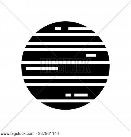 Neptune Planet Glyph Icon Vector. Neptune Planet Sign. Isolated Contour Symbol Black Illustration