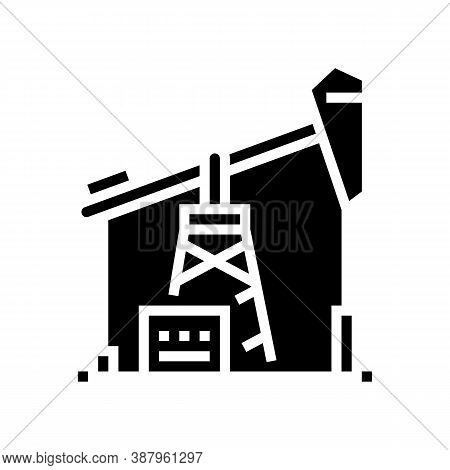 Petrol Derrick Glyph Icon Vector. Petrol Derrick Sign. Isolated Contour Symbol Black Illustration