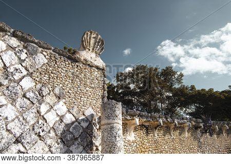 Altos De Chavon, Dominican Republic - Dec. 12, 2019: The Grecian-style Altos De Chavon Amphitheatre