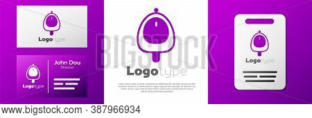 Logotype Toilet Urinal Or Pissoir Icon Isolated On White Background. Urinal In Male Toilet. Washroom