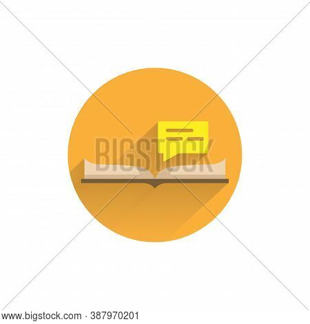 Instruction Flat Icon. Manual Book Colorful Flat Icon With Long Shadow. Instruction Flat Icon