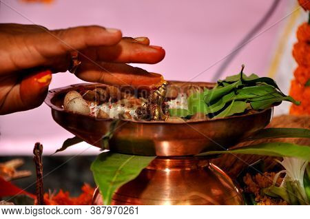 Praising The Hindu God Lord Krishna Which Is Also Known As Lord Vishnu