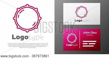 Logotype Line Dial Knob Level Technology Settings Icon Isolated On White Background. Volume Button,