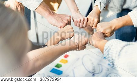 Hand For Work Together Concept, Hand Stack For Business And Service, Volunteer Or Teamwork Togethern