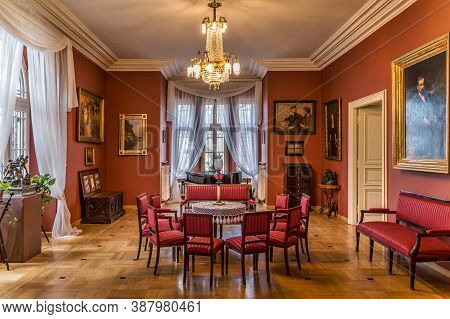 Oblegorek Poland Mar 2019 Henryk Sienkiewicz Eclectic Style Living Room In National Museum. He Was P