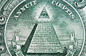 eye and american dollar mason pyramid macro poster
