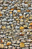 Structure of a rough stone laying many the big and small stones poster