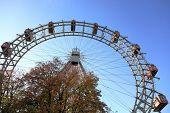 Ferris wheel in Prater park in Vienna, Austria poster