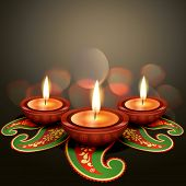 indian festival diwali vector background poster