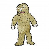 cartoon big foot monster poster
