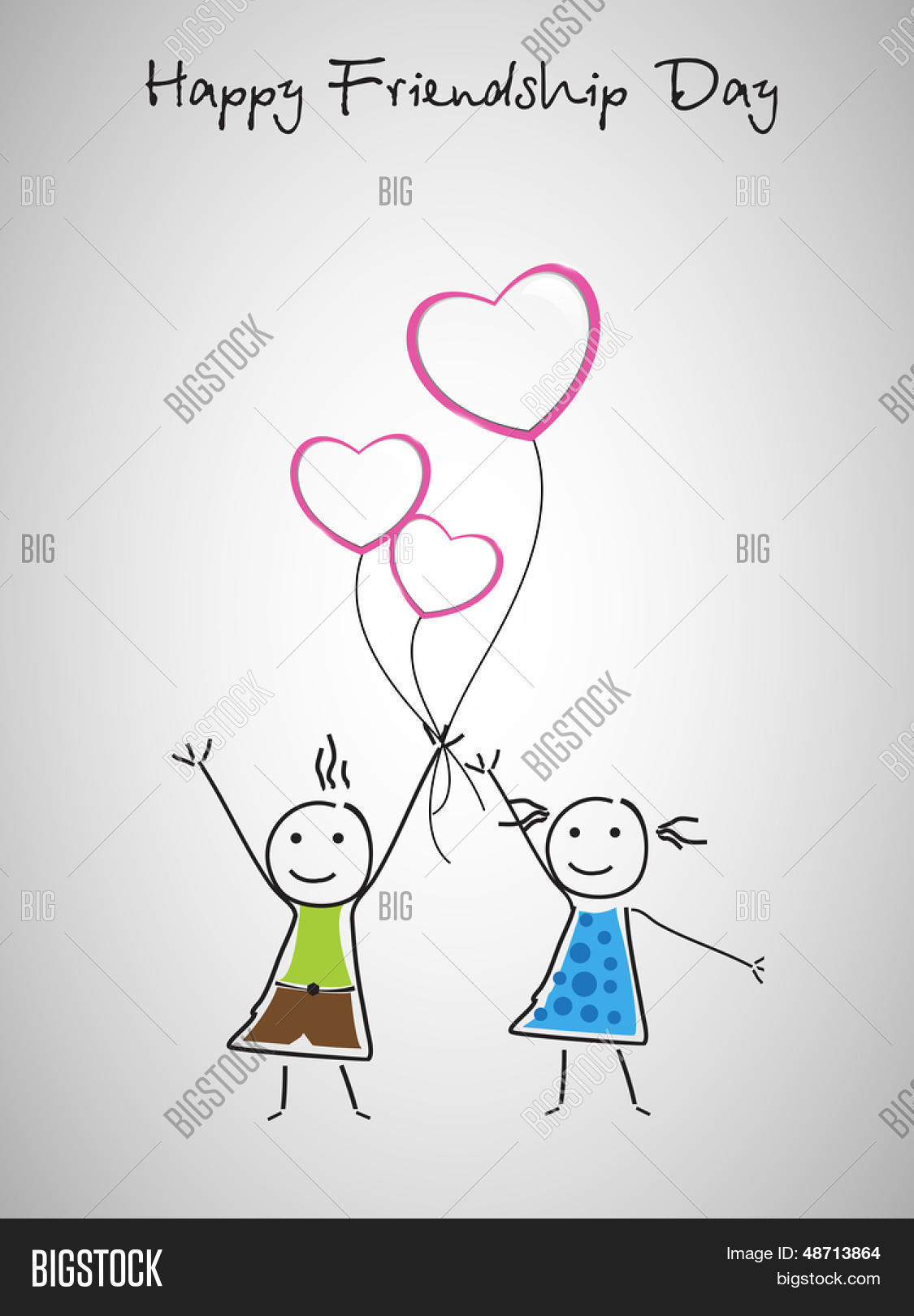 Happy Friendship Day Vector Photo Free Trial Bigstock