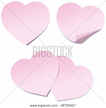 Heart Self Stick Notes