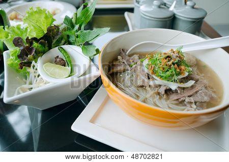 Pho Lao Style Noodle Soup