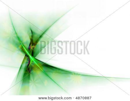 Elegant Green Floral Veil