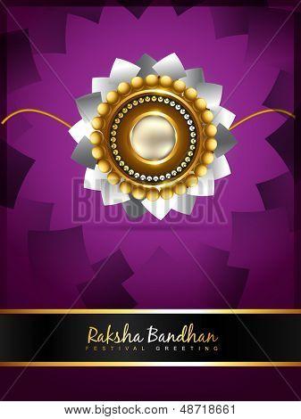 vector rakshabandhan greeting background design