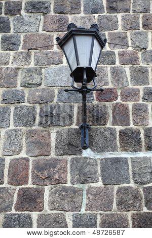 Lamp Grunge Stone Wall Background