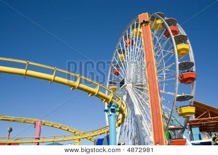 Roller Coaster In The Summer