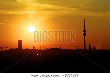 evening over Munich