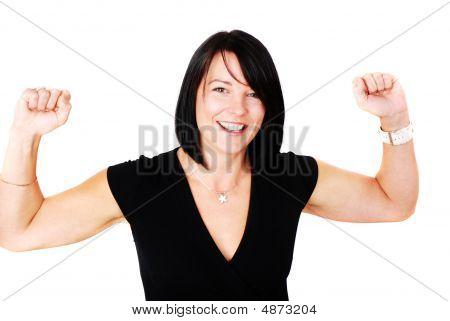 Attractive Brunette Happy To Have Succeeded