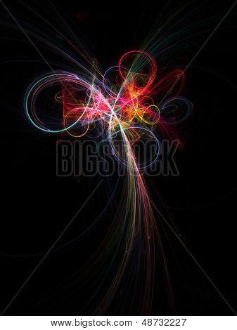 colorful galaxy star field