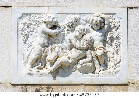 Bas-relief Marble Sculpture With Babies