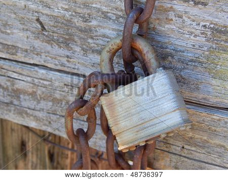 Locked Chain Close-Up