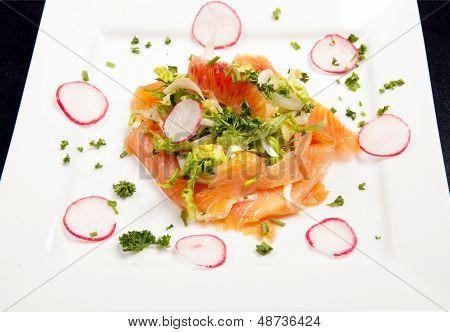Smoked Salmon Salad Appetizer