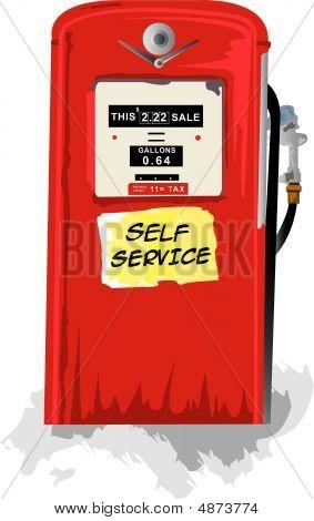 alte Benzin bowser