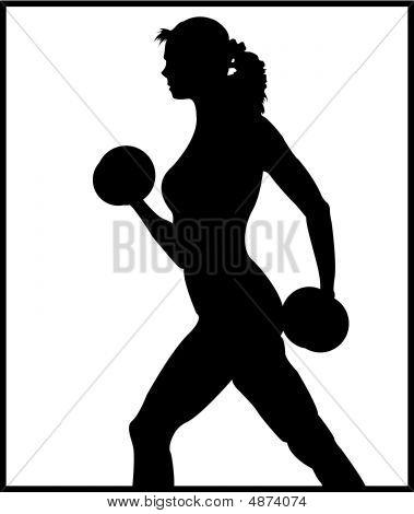 Gewichte Frau