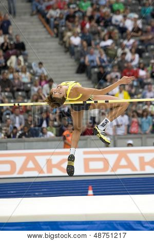June 14 2009; Berlin Germany. Blanka VLASIC (CRO) competing in the   high jump aqt the DKB ISTAF 68 International Stadionfest Golden League Athletics competition.