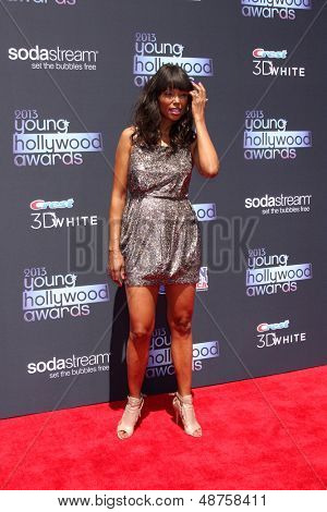LOS ANGELES - AUG 1:  Aisha Tyler arrives at the 2013 Young Hollywood Awards at the Broad Stage on August 1, 2013 in Santa Monica, CA
