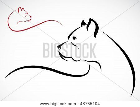 Vector Image Of An Pitbull