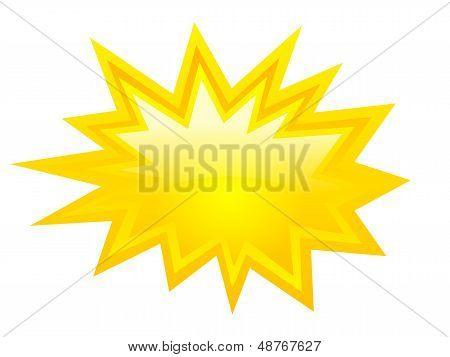 Yellow bursting icon