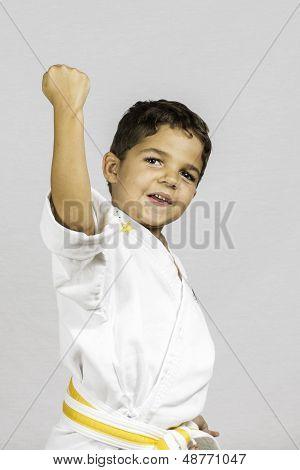 Boy Karate Uppercut