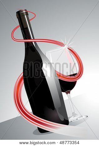 Premium or superior red wine