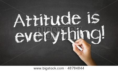 Attitude Is Everything Chalk Illustration
