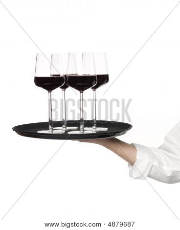 Tray Of Wineglasses